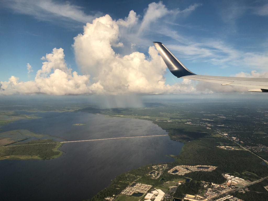 Cape Canaveral vanuit de lucht